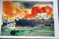 Chu Teh-chun China Lithography Rives Paper Signed Limited Edition