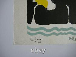 Cocteau Jean Moretti Raymond Lithography Signed Num/29 Signed Numb Lithograph