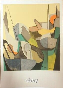 Danièle Perré Original Signed Lithograph Numbered In Pencil