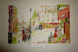 Dany Lartigue Lithograph Signed Numbered 1972 Paris