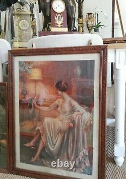 Delphin Enjolras All Of A Chromolithograph And 2 Lithograph Signed