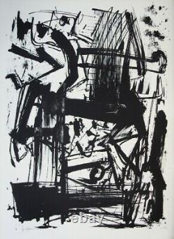 Emilio Vedova Tribute To Joan Prats, Lithography, 1975