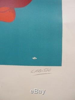 Félix Labisse Original Lithograph Signed Surrealism / Vintage