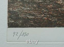 Fernand Diaz L'olivier Gravure Original Signed In Pencil #130ex