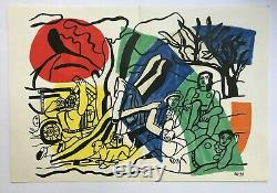 Fernand Leger Original Lithography 1960 Derriere Le Miroir Maeght