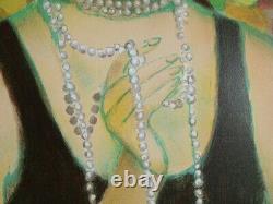 François Batet Elegante With Original Lithography Necklace By #200ex