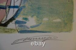 Francois Desnoyer Return To Fishing Original Lithography Signed # 1965