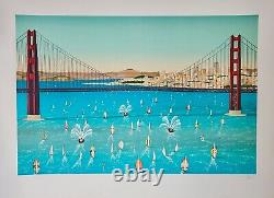 François Ledan Says Fanch Prints Lithography San Francisco Bridge