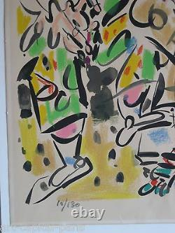 Gen Paul Lithograph Signed In 1960 Pencil Num / 130 Handsigned Numb Lithograph