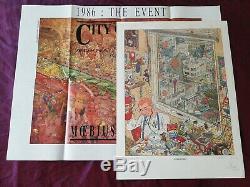 Geof Darrow, Litho H. C. Signed Original Drawing, Angoulême 1987 + City Of Fire