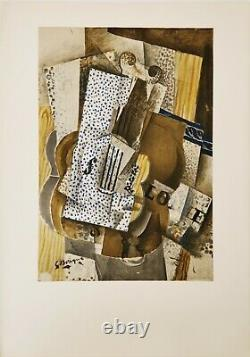 Georges Braque 1960 Original Lithography Paper Arches Violin Mélodie