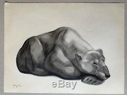 Georges Lucien Guyot Lithographie Engraving Art Deco Polar Bear Polar Bear