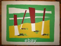 Gischia Leon Signed Lithograph Abstract Art Abstraction Venice