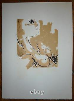 Guanse Antonio 4 Original Lithographs 1971 Abstract Art Erotic