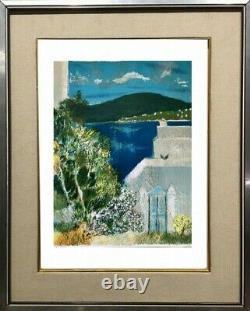 Guy Bardone (1927-2015) Original Lithographic Seascape Signee (8)