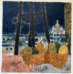 Guy Bardone (1927-2015) Original Lithographic View Of Venice Signee (17)