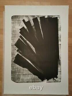 Hans Hartung Lithography Orig. Signed Num. H.c. L-58-1973 F-rg Reliefs