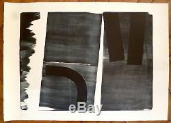 Hans Hartung Original Lithograph 1974 Abstract Abstraction Art