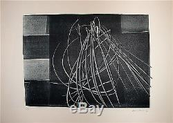 Hans Hartung Original Lithograph Numbered 1976 Lyrical Abstraction