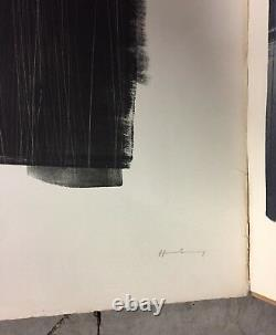 Hartung Hans Lot Of 2 Original Lithographs Signed Numbered Abstract Art