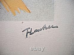 Henri De Toulouse Lautrec // Lithograph The Passenger From 54-albi- 74x54 CM