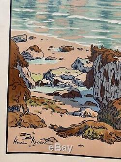 Henri Riviere Breton Lithography Etching Kingdom Marine 1900 Beach