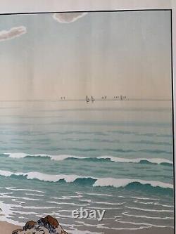 Henri Riviere Engraving Lithography Breton Breton Marine Brittany 1900 Wave La Plage