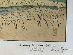 Henri Riviere Etching Breton Kingdom Marine Lithography Perros Guirec