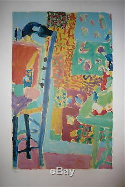 Ivan Puni Numbered Lithograph Signed Abstract Salon Des Independants