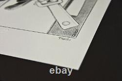 Jacques Tardi Original Lithography On Numbered Stone And Signed To 100 Ex