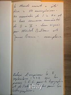 James Hd Brown & Michel Bulteau / Artists Book Lithographs Sign