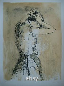 Jansem Jean Lithograph 1975 Signed Pencil Num/110 Handsigned Lithograph Woman