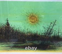 Jean Carzou Landscape Port Au Soleil Lithograph Signed, Dated And Numbered
