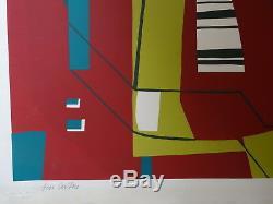 Jean Cavallaro (1930-2000) Litho Artist Signed Original Abstract Art Event