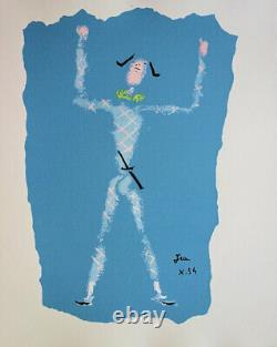 Jean Cocteau Arlequin Acclaimed Lithography Original Signed