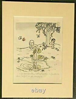 Jean Effel Original Lithograph Signed & Legendary Paradis Terrestre