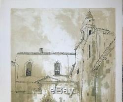 Jean Jansem Large Original Lithograph Edition Hc South Landscape