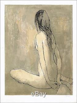 Jean Jansem Nude Original Lithograph Signed In Pencil 76 X 57 CM