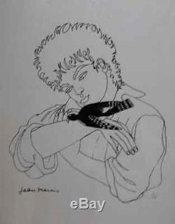 Jean Marais From 1913 To 1998. Pie Christmas. Great & Rare Lithograph Numbered 33/50