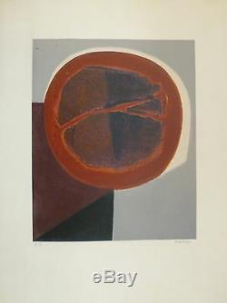 Jean Piaubert Original Lithograph Abstract Abstraction
