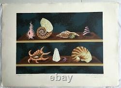 Jean Picart Le Doux (1902-1982) Original Lithograph Shellfish Paris France