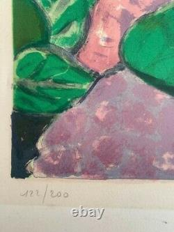 Jean Pierre Cassigneul The Hortensiaslithographie Signed Hand 122/200