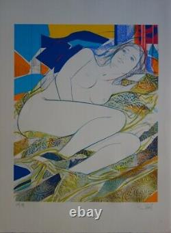 Jean-baptiste Valadie Blue Eyes Lithography Original Signee And No.