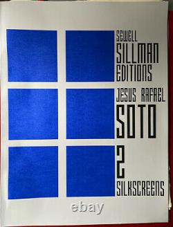 Jesus Rafael Soto Original Silksceen Handsigned