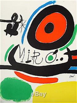 Joan Miro Lithograph On Vellum Signed In 1970 Abstract Art Abstract Surrealism