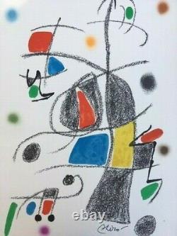 Joan Miro, Original Lithograph, Signed