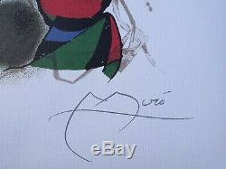 Joan Miro Original Lithograph Signed And Numbered II Lithographie, 500ex