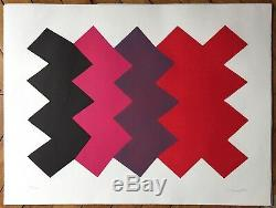 Joaquim Chancho Lithograph Signed Abstract Abstraction Spain Riudoms