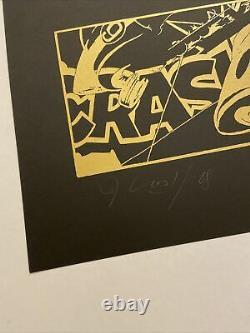 John Crash Matos, Hand Signed, Litho Gold 2/25, 28x43cm