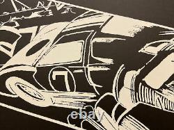 John Crash Matos, Hand Signed, White Litho 4/25, 28x43cm, Street Art Graffiti
